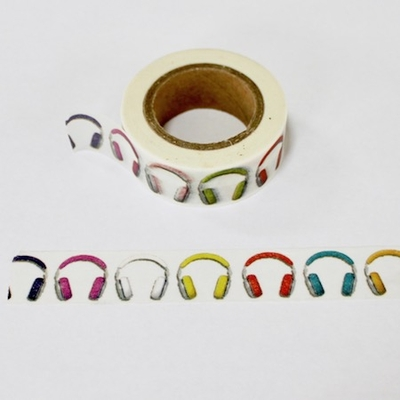Headphone Washi Tape - Out Of Stock