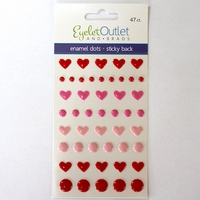 *Heart Enamel - Pink/Red