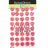 Heart Jewel Bling - 12mm Pink