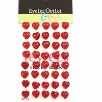 Heart Jewel Bling - 12mm Red