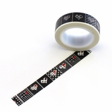 Heart Washi Tape - Black/Red