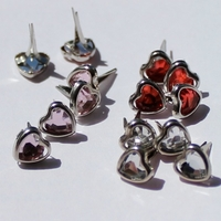 Jewel Heart Brads - Out of Stock