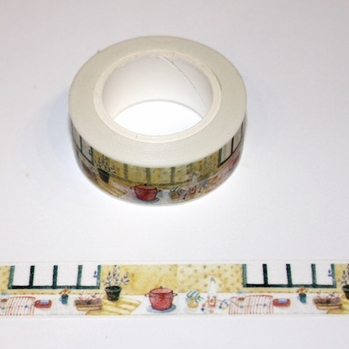 Kitchen Counter Top Washi Tape