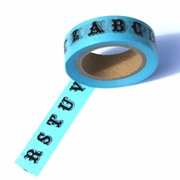 Letter Washi Tape - Blue