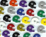 Mixed Football Helmet Eyelets