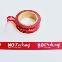 No Peeking Washi Tape