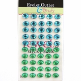 Oval- Eggs- Stick On - Blue/Green