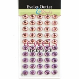 Oval - Eggs- Stick On - Pink/Purple