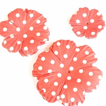 Paper Flowers - Red Dots