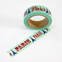 Paris Washi Tape - Green