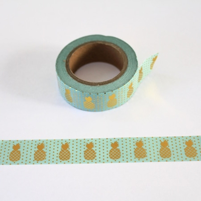 Pineapple Washi Tape - Green