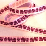 Pink Owl Ribbon