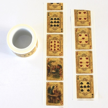 Playing Card Washi Tape - Wide - out of stock