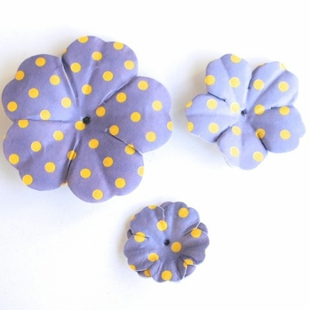 Purple Dot Paper Flowers