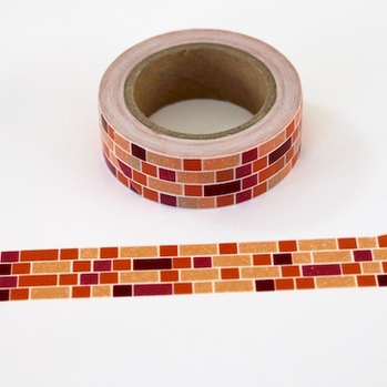 Brick Washi Tape - Red