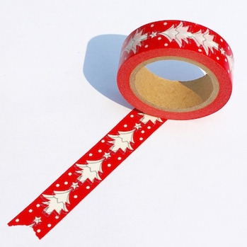 Red Tree Washi Tape