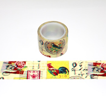 Rooster Washi Tape - Out Of Stock