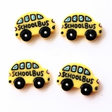 School Bus Flatbacks Resin