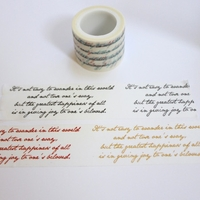 Script Washi Tape - Wide