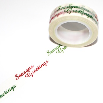 Seasons Greetings Washi Tape - Out Of Stock