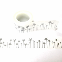 Silver Star Washi Tape