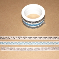 Skinny Washi Tape - Black/Blue