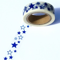 Star Washi Tape - Blue