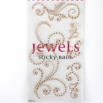 *Swirl Bling -Jewel Champagne