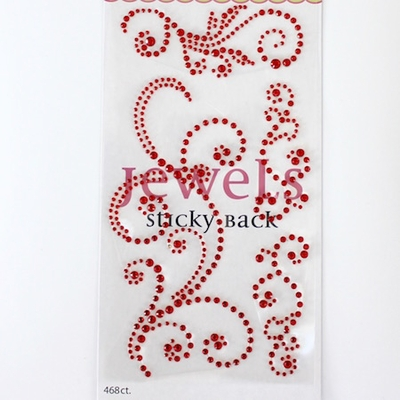 Swirl Bling - Jewel Red