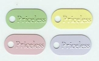 Tags - Priceless- SIlver