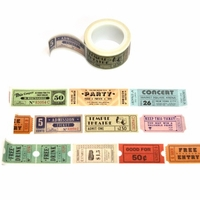 Ticket Washi Tape