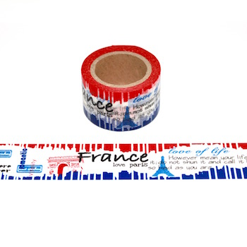 Wide France Washi Tape