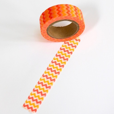Zig Zag Washi Tape - Orange