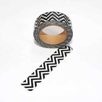 ZigZag Washi Tape - Black