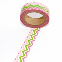 ZigZag Washi Tape - Pink/Green