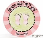 """For This Child We Prayed"" Ceramic Plate - Cute Baby Shower Gift!"