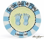 """For This Child We Prayed"" Ceramic Plate - Great Baby Shower Gift!"