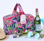 Lilly Pulitzer Insulated Cooler Basket - Trippin' & Sippin' Navy