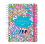 Personalized Lilly Pulitzer Large Agenda - Scuba to Cuba