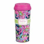 Monogrammed Lilly Pulitzer Travel Mug - Trippin and Sippin Navy