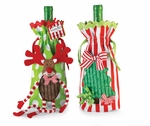 Linen Holiday Bottle Bags - Buy 2 or More And Save!!