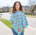 Monogrammed 3 in 1 Poncho Wrap