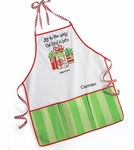 Monogrammed Apron - Joy To The World