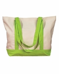 Monogrammed Beach Bag - Lime - MONTHLY SPECIAL