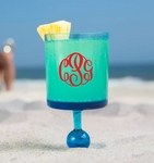 Monogrammed Beach Wine Glasses