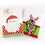 Monogrammed Burp Cloth - 2 Christmas Styles!