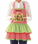Monogrammed Christmas Apron - Personalized Holiday Apron