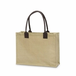 Monogrammed Classic Jute Tote Bag Khaki - Personalized Free!