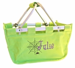 Monogrammed Halloween Mini Market Tote - Personalized Trick or Treat Bag