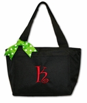 Monogrammed Insulated Lunch Tote Bag - Festive Colors
